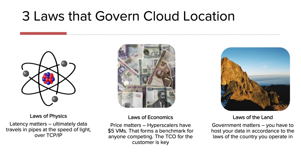 Laws of Cloud Location